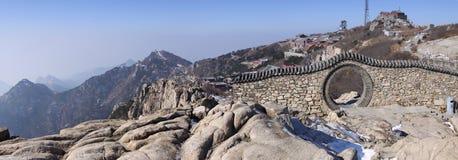 Mount taishan top plateau shandong province Stock Image
