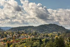 Mount Talbert in Happy Valley Oregon. Scenic view of Mount Talbert in Happy Valley Oregon during Fall Season Royalty Free Stock Images