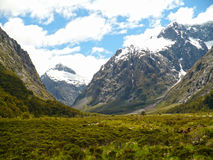Mount Talbot. From the Milford Sound highway in New Zealand Stock Photos