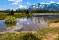 Mount Tallac Reflections Lake Tahoe Stock Photo