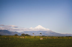 Mount Taranaki, the Fuji of New Zealand Stock Photography