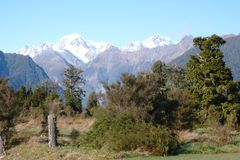 Mount Tasman and Cook Royalty Free Stock Photography