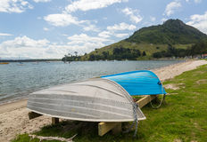 The Mount at Tauranga in NZ stock images