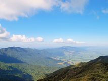 Mount Te Aroha. View of Kaimai Range from top of Mt Te Aroha Royalty Free Stock Image