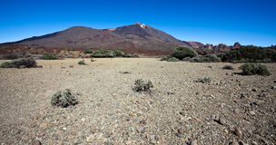 Mount Teide. Scenic view of Mount Teide volcano on island of Tenerife, Canary Islands, Spain Stock Image