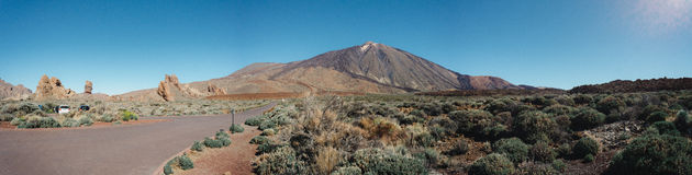 Mount teide panoramic. A panoramic view of mount teide volcano Royalty Free Stock Photography
