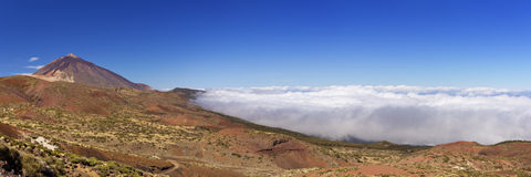 Mount Teide peak on Tenerife above the clouds Stock Image