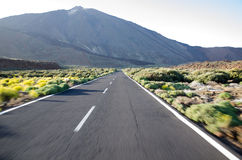Mount Teide. These Photographs where taken at El Teide in Spain's Canary Islands. It is the Tallest Mountain in all of Spain, and the 3rd largest Volcano on a Royalty Free Stock Photo