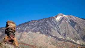 Mount Teide and the rock called the Tree Royalty Free Stock Images