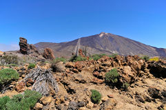 Mount Teide at Tenerife in the Canary Islands Stock Photography