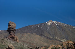 Mount Teide, Tenerife. View of Mount Teide, Tenerife, with a little snow on top Royalty Free Stock Images