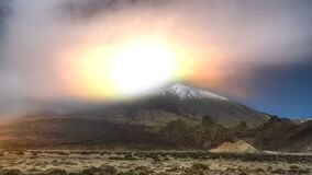 Mount Teide time lapse. A time lapse video over Mount Teide on Tenerife in the Canary Islands, Spain stock video