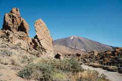Mount teide. A view of mount teide volcano Royalty Free Stock Images