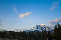Mount Temple in Banff Stock Images