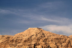 Mount of Temptation. Jericho, with view of Greek Orthodox monastary royalty free stock photo