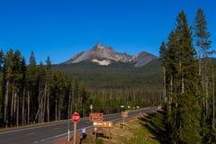 Mount Thielsen, Southern Oregon Cascades stock images