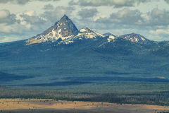 Mount Thielsen views from Crater lake Royalty Free Stock Photo