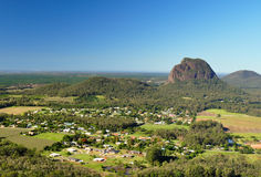 Mount Tibrogargan from Mount Ngungun. Mount Tibrogargan taken from the top of Mount Ngungun - Glasshouse Mountains in the Sunshine Coast hinterland, Queensland Royalty Free Stock Image