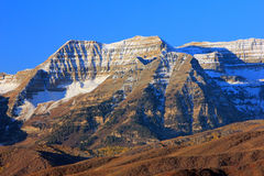 Mount Timpanogos with fresh snow. Stock Photography