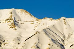 Mount Timpanogos Mountain Close-up Stock Images