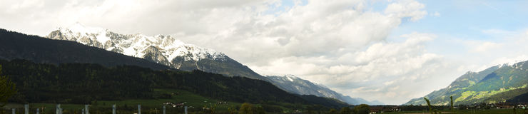 Mount Titlis. Panoramic picture of Mt Titlis Switzerland royalty free stock photography