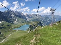 Mount Titlis view from cable car stock image