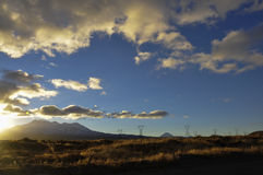 Mount Tongariro Sunset Royalty Free Stock Photography