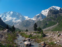 Mount Ullu-Tau from the gorge Adyr-su. Caucasus Royalty Free Stock Image