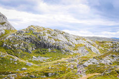 Mount Ulriken. Beautiful landscape of Mount Ulriken Stock Photos