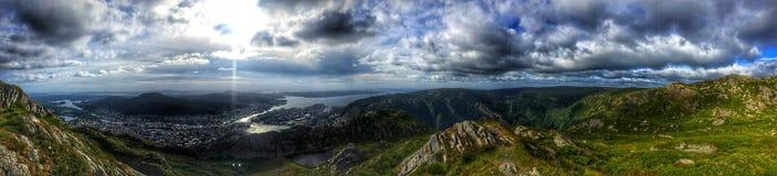 Mount Ulriken view royalty free stock image