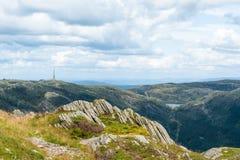 Mount Ulriken. View from mount Ulriken near Bergen city in Norway Stock Photography