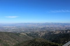 Mount Umunhum Valley View. Mount Umunhum Stock Images