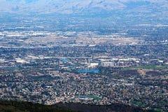 Mount Umunhum View of Almaden Valley Stock Photo