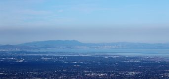 Mount Umunhum View of North Bay Stock Images