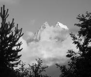 Mount Ushba - balck-and-white photo Stock Photography