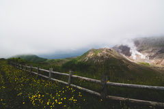 Mount Usu, active volcano at the south of Lake Toya, Hokkaido, j Royalty Free Stock Photos