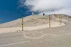 Mount Ventoux. Way on Mount Ventoux in France Stock Photo