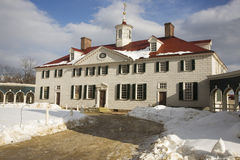 Mount Vernon Front Angle Winter Royalty Free Stock Photo