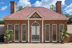 Mount Vernon Greenhouse Washington. The brick building with chimneys of the greenhouse in Mount Vernon, Virginia Stock Photography