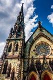 Mount Vernon miejsca Zlany kościół metodystów w Baltimore, Marylan obrazy royalty free