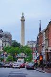 Mount Vernon miejsce w Baltimore obrazy stock