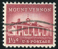Mount Vernon. UNITED STATES - CIRCA 1956: stamp printed by United States of America, shows Mount Vernon, circa 1956 Stock Images