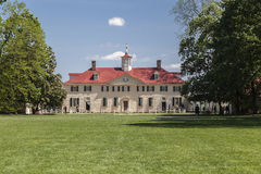 Mount Vernon Washington. The main house of the farm in Mount Vernon, Virginia Royalty Free Stock Image