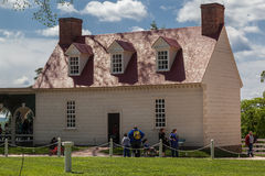 Mount Vernon Wood House Washington Stock Photos