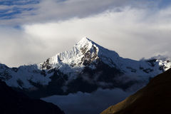 Mount Veronica Peru With Sunlight On Peak. Last Of Sun Light Hitting Peak Of Mount Veronica Peru Stock Images
