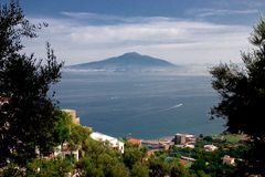 Mount Vesuvius. Is a volcano east of Naples, Italy Royalty Free Stock Photo