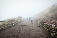 Mount Vesuvius Climbers royalty free stock photography