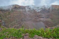 Mount Vesuvius crater Stock Photo