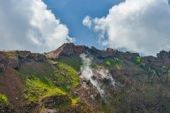 Mount Vesuvius crater Royalty Free Stock Photos