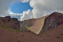 Mount Vesuvius crater Stock Images